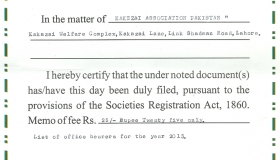 Society Registration Lahore